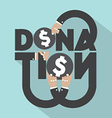Donation Typography Design vector image vector image
