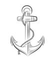 drawing one-color anchor vector image