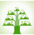Eco cityscape make a tree vector image vector image