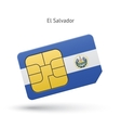 El Salvador mobile phone sim card with flag vector image vector image