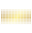 fir-tree golden halftone effect vector image