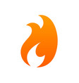 fire logo icon - isolated on white vector image vector image