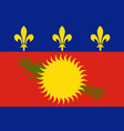 flag guadeloupe vector image vector image
