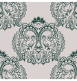 floral lace pattern in Oriental style vector image vector image