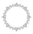 floral ornament frame wreath vector image