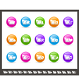 Folders icons 2 of 2 Rainbow Series vector image vector image