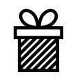 gift box present ribbon linear vector image