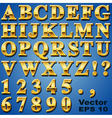 Gold Metal Letters vector image