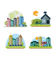 green cities concept vector image vector image