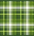 green tartan pixel check plaid seamless pattern vector image vector image