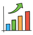 growth chart drawing vector image vector image