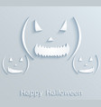 halloween poster or postcard with pumpkins paper vector image vector image