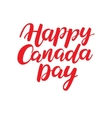 Happy Canada day card Handwritten vector image