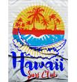 hawaii surf t-shirt graphics typography vector image
