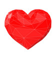 heart made triangles vector image vector image