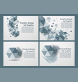 hexagon on white and grey background with copy vector image