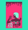 hot fuse tan girl in bikini in flat pop art style vector image vector image