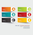 infographic label tab template vector image vector image