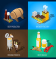 isometric beer 2x2 concept vector image vector image