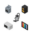 isometric device set of music box microwave vector image vector image