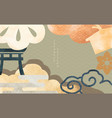 japanese background with asian traditional vector image vector image