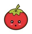 kawaii cartoon tomato vegetable vector image vector image