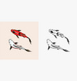 koi carp japanese fish korean animal engraved vector image vector image