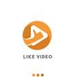 like video logo icon vector image vector image