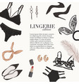 lingerie underwear hand-drawn doodle template bra vector image