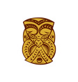 Maori Mask Woodcut vector image vector image