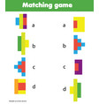 matching game educational children activity vector image vector image