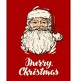 Merry Christmas greeting card Santa Claus vector image vector image