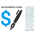 Pencil Price Icon with Flat Set vector image