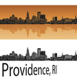 Providence skyline in orange vector image vector image
