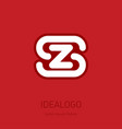 s and z initial logo sz - design element or icon vector image vector image