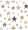 Seamless pattern with hand drawn stars vector image