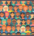 seamless pattern with people different races vector image