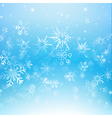 Snow fall with bokeh abstract blue background vector image vector image