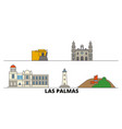 spain las palmas flat landmarks vector image vector image