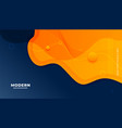 stylish yellow and blue fluid gradient background vector image