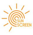 sun uv screen logo flat style vector image vector image
