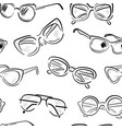 sunglasses fashion seamless pattern vector image vector image