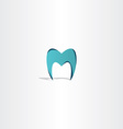 tooth icon letter m logo vector image