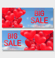 valentine s day big sale offer banner template vector image