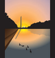 washington monument sunset vector image