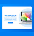 web design concept creating websites designed vector image