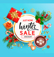 winter 2020 sale banner invitation card vector image vector image