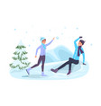 winter season games flat vector image