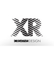 xr x r lines letter design with creative elegant vector image vector image