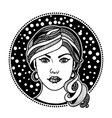 Zentangle stylized girl vector image vector image